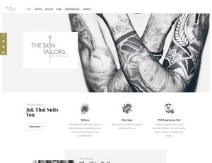 Screenshot from the Skin Tailors website