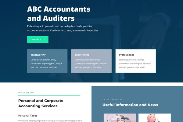 Website In a Box – Accountant
