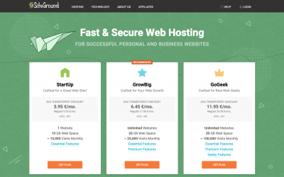 Host Your Own Website with Siteground