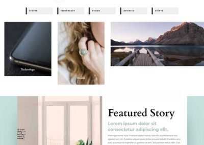 Website In a Box – Magazine Layout