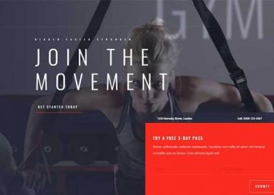 Website In a Box – Gym Single Page