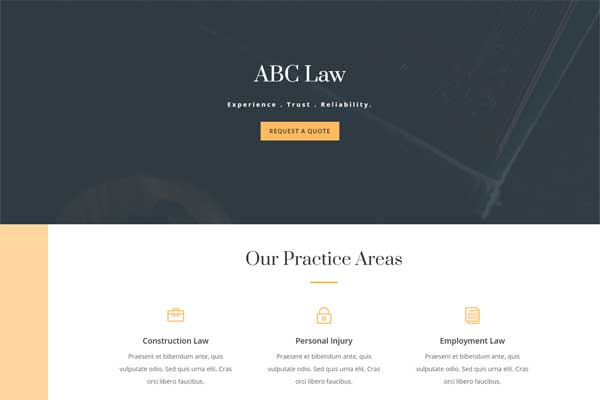 Website In a Box – Solicitor