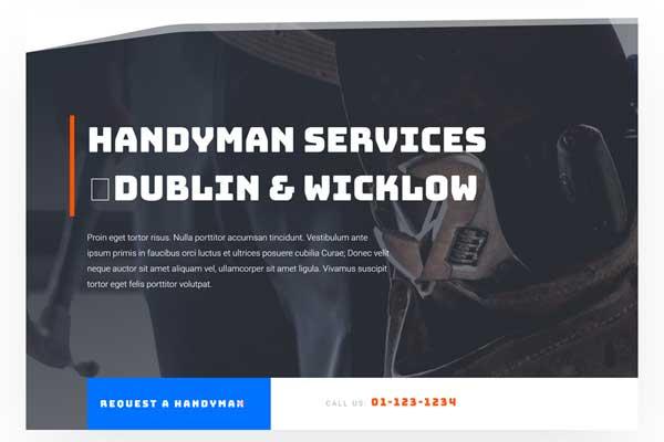 Website In a Box – Handyman Single Page